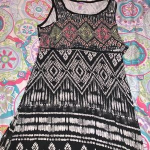 Long justice patterned dress
